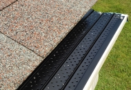 Gutter covers installed