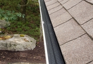Gutters cleaned and leaf guards installed