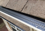 Gutter protection installed