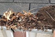 Dirty gutters cause water damage