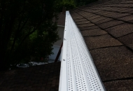 White gutter guards