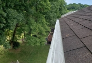 White guards installed on high roof