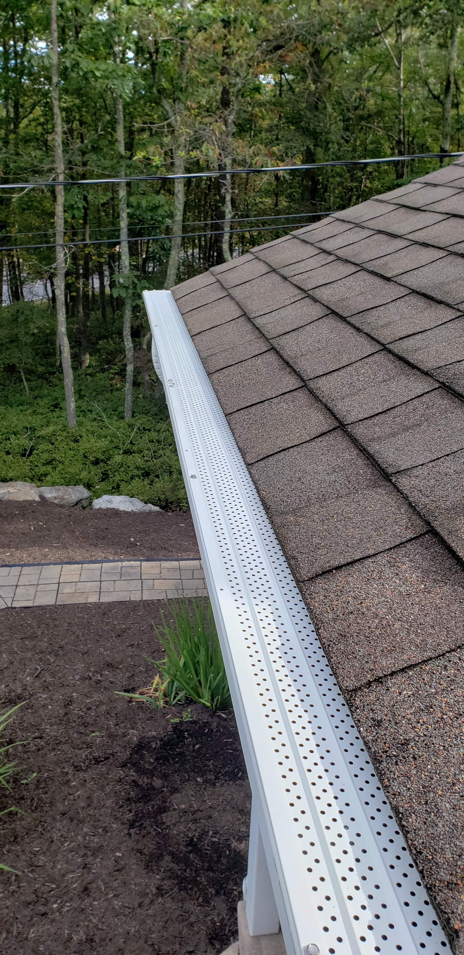 White aluminum gutter guards