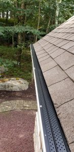 Another quality gutter guard installation